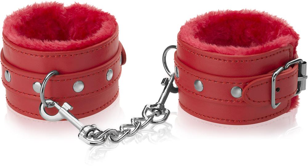 Hand oder Fuß Manschetten mit Fell Handschellen Fesseln