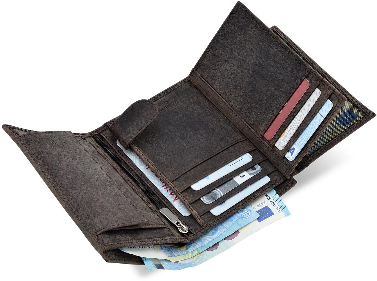 Herrengeldbörse ALWAYS WILD Leder Braun