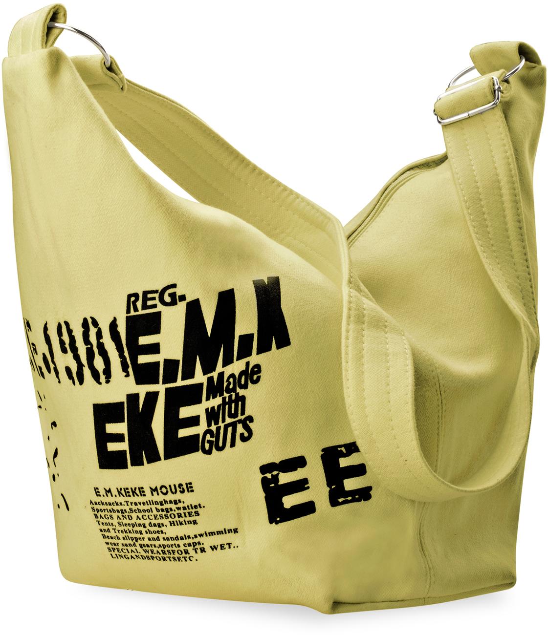 Details zu Herren Damen Einarm Rucksack Querträgertasche Crossbag Leinen Tasche Beige