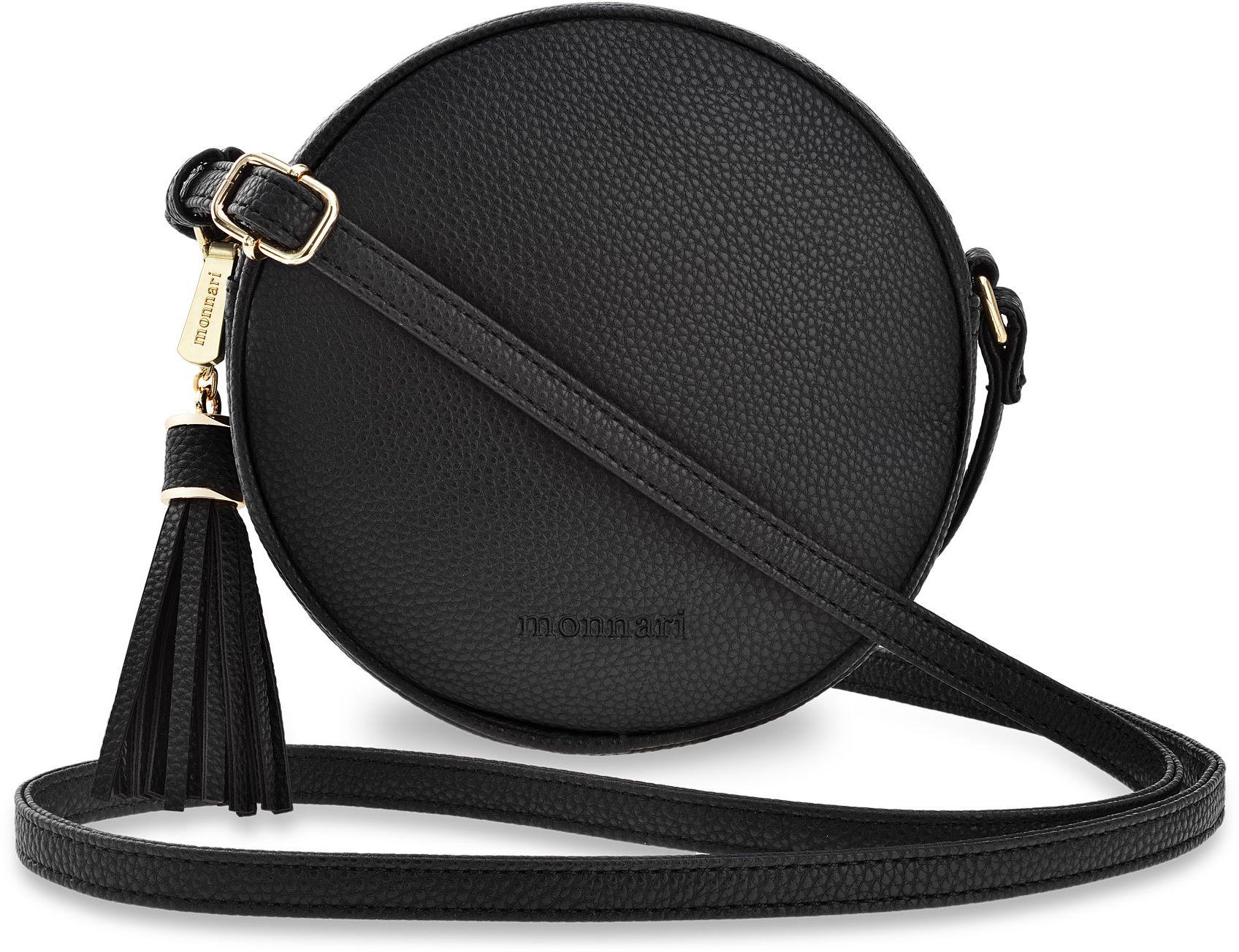 Damen Tasche Markentasche Monnari Schlangenhaut Optik schwarz